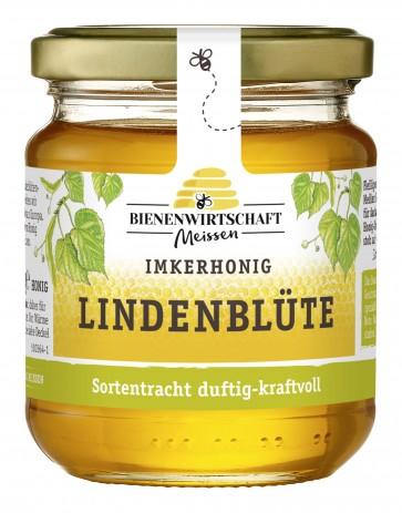 #2184 Bienenwirtschaft Meißen Lindenblüte Glas 10x250g
