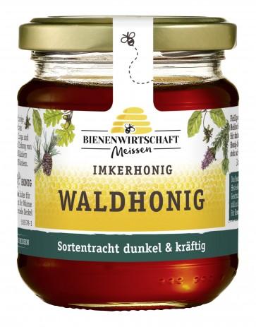 #2186 Bienenwirtschaft Meißen Waldhonig flüssig 10x250g Glas