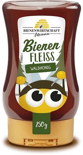 #2671 Bienenwirtschaft Meißen  BienenFleiß Wald 10x250g Spender
