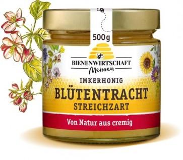 #2250 Bienenwirtschaft Meißen  Blütentracht streichzart, cremig 10x500g Glas