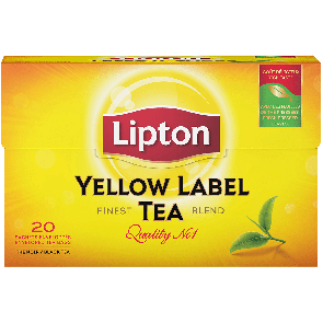 #1075 LIPTON TEE YELLOW 20X40G