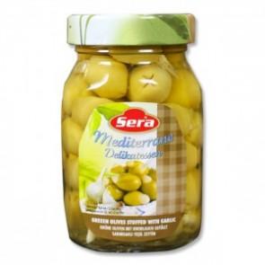 microfrucht-4659-sera-grune-oliven-m-knoblauch-12x720ml
