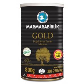 #8931 MARMARABIRLIK SCHWARZE GEMLIK OLIVEN GOLD (XL) 12X800G