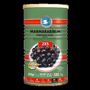 #8949 MARMARABIRLIK SCWARZE GEMLIK OLIVEN ELIT (2SX) DOSE 12X800G