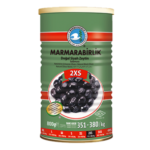 #8949 MARMARABIRLIK SCWARZE GEMLIK OLIVEN ELIT (2SX) 12X800G