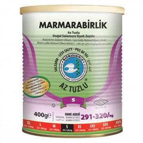 #8990 MARMARABIRLIK SCWARZE GEMLIK OLIVEN HUSUSI (S) AZ TUZLU 480G 6X480G