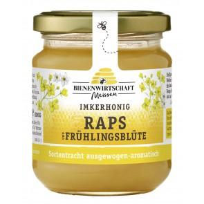 #2235 Bienenwirtschaft Meißen  Raps-Frühlinsgblüte cremig 10x250g Glas