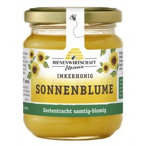 #2242 Bienenwirtschaft Meißen Sonnenblume cremig 10x250g Glas