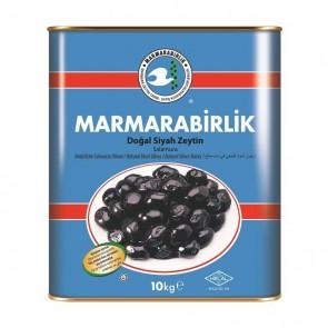 #8947 MARMARABIRLIK SCWARZE GEMLIK OLIVEN MEGA (XL) 10KG 1X10000G