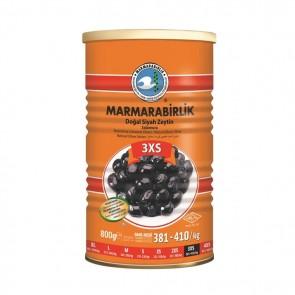 #8933 MARMARABIRLIK SCWARZE GEMLIK OLIVEN LUX (3SX) 12X800G