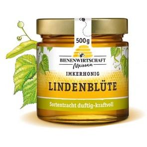 #2323 Bienenwirtschaft Meißen  Lindenblüte flüssig 10x500g Glas