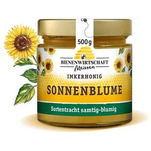 #2666 Bienenwirtschaft Meißen  Sonnenblume cremig  10x500g Glas