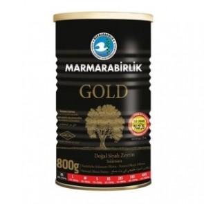 #8930 MARMARABIRLIK SCHWARZ OLIVEN GOLD (M) DOSE 12X800G